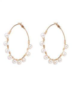 Hoops Earrings Pearl