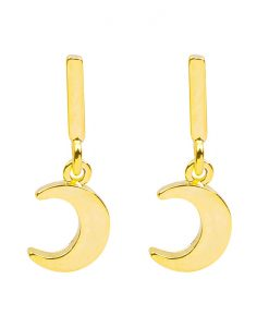 creolen, oorringen, maan, goud, gold plated, sieraden, jewellery, dames, jewelry