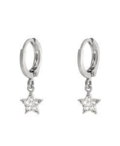 creolen, oorringen, ster, zilver, sieraden, dames, jewellery, bedel, hanger, nikkel vrij
