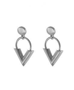 v oorbellen, nikkel vrij, statement, sieraden, dames, earparty , accessoires