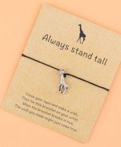 Touw Armband Giraf