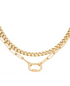 dubbele ketting, schakelketting, chain, rvs, roest vrij staal, stainles steel, dames, sieraden, accessoires