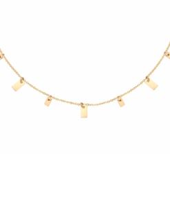 minimalistische ketting, hanger, stainless steel, goud, zilver, rvs, roest vrij staal, nikkel vrij, dames
