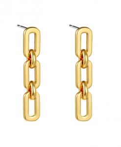 chain oorbellen, gold plated, goud, zilver, dames, sieraden, jewellery, accessoires