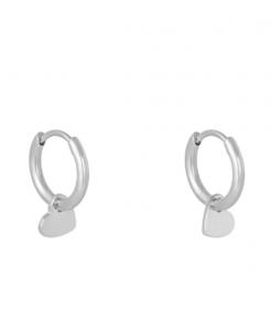 oorbellen hanger, creolen, oorringen, hartje, stainless steel, goud, zilver, roestvrij staal, sieraden, accessoires, dames, jewellery