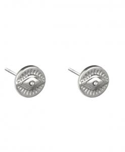 oorknopjes, oorstekers, stud oorbellen, oog, stainless steel, rvs, roest vrij staal, sieraden, accessoires, dames, jewellery