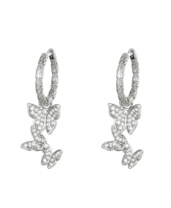 oorringen, creolen, vlinder, diamanten, gold plated, 18k, nikkel vrij, dames, accessoires, sieraden, jewellery