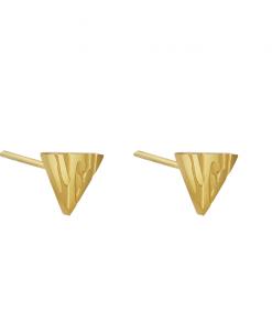 stud oorbellen, driehoek, stainless steel, rvs, roest vrij staal, sieraden, accessoires, dames