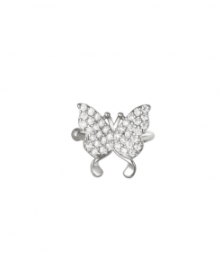 ear cuff, vlinder, zirkonia, nikkel vrij, diamanten, kristallen, sieraden, accessores, dames