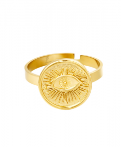 stainless steel, ring, oog, roestvrij staal, nikkelvrij, verstelbaar, sieraden, jewellery, accessoires
