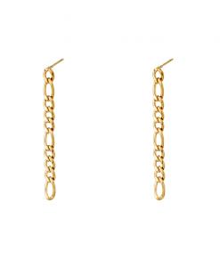 Lange Oorbellen, chain, sieraden, dames, accessoires, hippe, stainless steel, roestvij staal, nikkelvrij, verkleurt niet