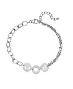 Stainless Steel Armband Love