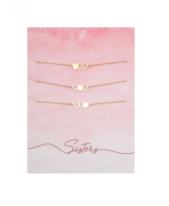 3 zussen armbanden, hartje, stainless steel, nikkelvrij , dames, accessoires, sieraden, nikkelvrij