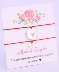 moeder dochter, armbanden set, touw, sieraden, moederdag, cadeau, relatie