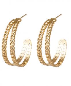 ronde oorbellen, sieraden, accessoires, dames, stainless steel, rvs, roestvrij staal, chain, trendy, leuk