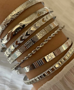 bangle, armbanden set, sieraden, dames, accessoires, hippe, leuk, zilver, dames