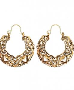 boho oorbellen, goud, ibiza, vintage, sieraden, dames, accessoires