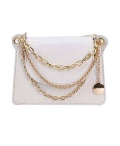 crossbody tas, wit, chain, accessoires, dames, tassen, fashion, mode, trendy