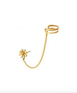 ear cuff, bloemen, ketting, sieraden, dames, accessoires, stainless steel, nikkelvrij, goud, zilver