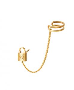 ear cuff, ketting, slotje, sieraden, dames, accessoires, stainless steel, roestvrij staal, nikkelvrij