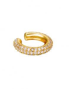 ear cuff, zirkonia, steentjes, diamanten, oorbellen, gold plated, nikkelvrij