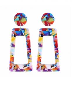 gekleurde oorbellen, groot, statement, dames, sieraden, accessoires
