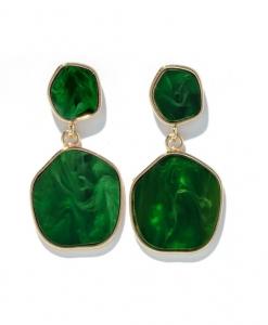 groene oorbellen, groot, dames, sieraden, accessoires, hip, groen
