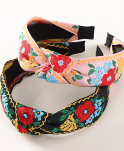 haarband, bloemen, accessoires, haaraccessoires, dames, zwart, roze