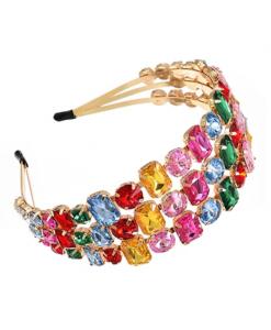 haarband, diamanten, dames, haaraccessoires, hoofdband, accessoires, kleurrijk, zirkonia, kristallen