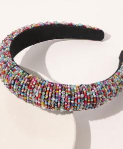 haarband, kralen, kleurrijk, haaraccessoires, dames, accessoires