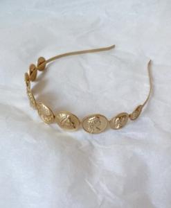 haarband, munten, goud, accessoires, haaraccessoires, dames, trendy