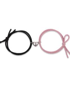 koppel armbanden set, magneet, hartje, stelletjes, liefdes, sieraden, accessoires
