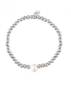 kralen armband, parel, sieraden, dames, accessoires, zilver, goud, nikkelvrij