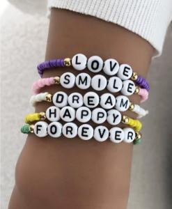 kralen armbanden set, dames, accessoires, letters, worden, zomer, accessoires