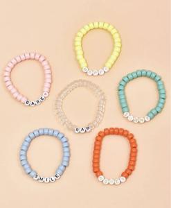 kralen armbanden set, letters, sieraden, dames, accessoires