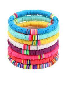 kralen, armbanden set, surf armbandjes, sieraden, dames, accessoires, kleurrijk
