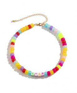 kralen ketting, ster, sieraden, dames, accessoires, hippe , trendy, kleurrijk, dames, zomer