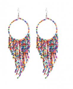 kralen oorbellen, oorhangers, kleurrijk, sieraden, dames, accessoires
