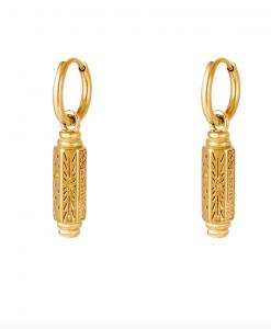 oorbellen met hanger, luck, sieraden, dames, accessoires, stainless steel, roestvrij staal, nikkelvrij, oorringen, creolen