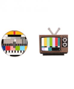 pins, set, tv, broche, dames, accessoires, sieraden, trendy