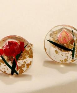 ringen set, bloemen, sieraden, dames, accessoires, goud