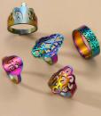 ringen set, rainbow, kleuren, dames, accessoires