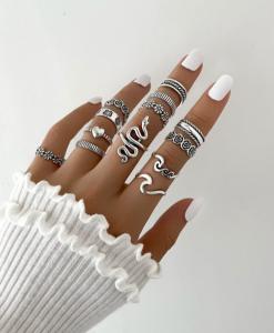 ringen set, dames, accessoires, sieraden, hippe, leuk, minimalistisch