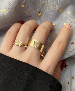 ringen set, sieraden, vlinder, dames, accessoires, vriendin, cadeau, hippe, trendy