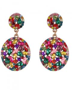 statement oorbellen, diamant, sieraden, groot, dames, accessoires, gekleurde oorbellen