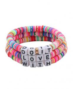 surf armbanden set, kleurrijk, kralen, sieraden, dames, accessoires, zomer, lente