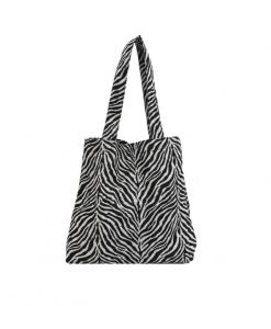 tote bag, zebra, print, tassen, dierenprint, accessoires