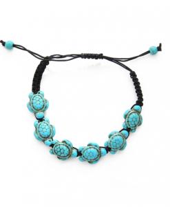 touw armband, schildpad, dames, sieraden, accessoires, zwart, zomer