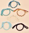 touw armbandjes, set, dames, accessoires, sieraden, gevlochten, zomer