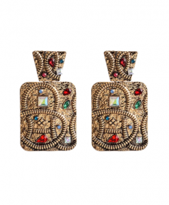 vintage oorbellen, diamanten, sieraden, dames, accessoires, boho, goud